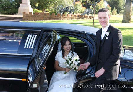 black wedding limousine kings park