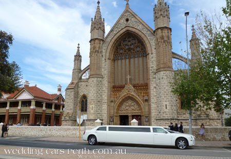 st patricks basilica wedding limo