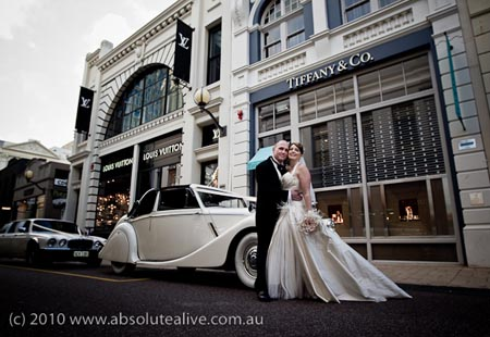 luxury wedding cars perth
