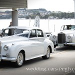 The two Rolls Royce limos at the entrance to the Red Herring
